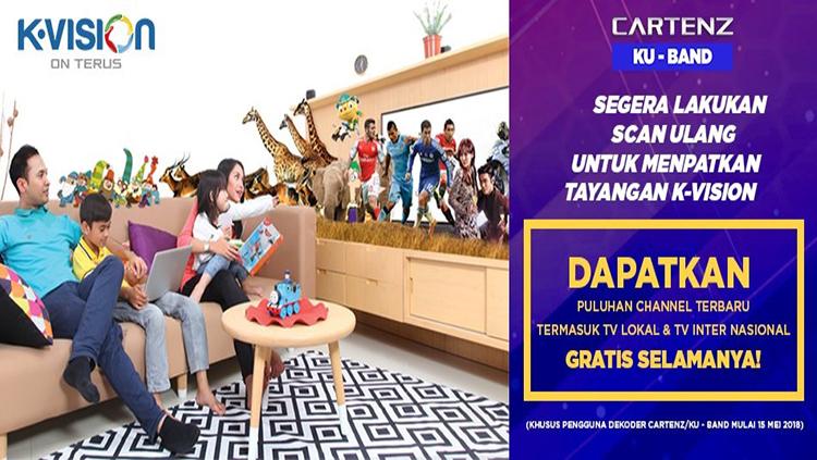 Channel Lokal dan Internasional Kvision ku band cartenz