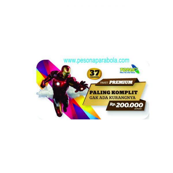 voucher paket premium (all channel) topas tv