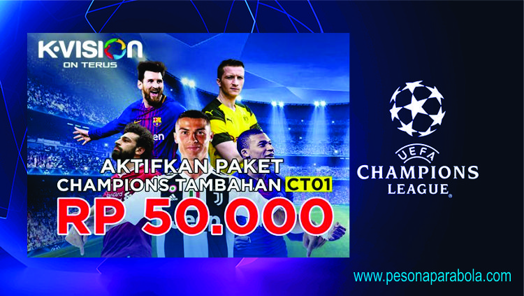 Liga Champion dan Liga Europa Hadir di Kvision